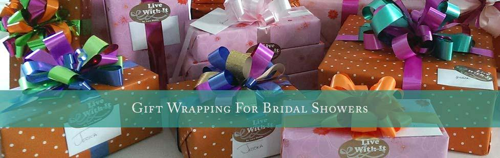 Live With It ~ Gift wrapping for bridal showers lifestyle image