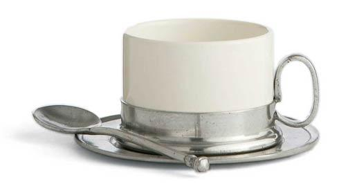 $140.00 Cappuccino Cup & Saucer with Spoon