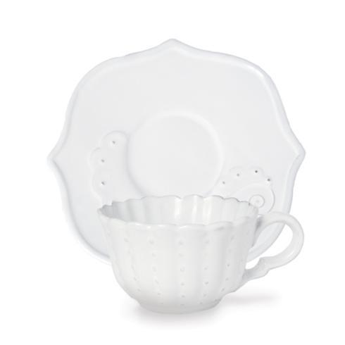 $61.00 Beaded Flora Cup & Saucer