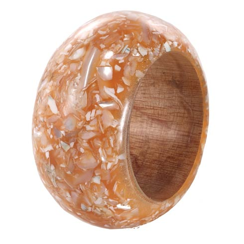 $72.00 Apricot Shell Napkin Ring Pack of 4