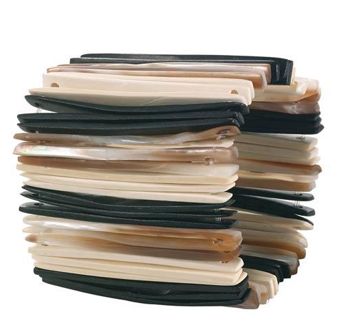 $90.00 Black Napkin Ring Pack of 4