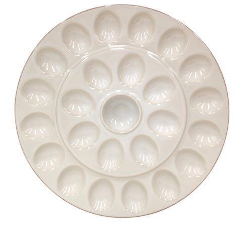 $46.00 Egg Platter, Cream