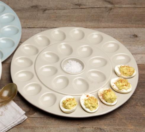 $46.25 Egg Platter, Linen