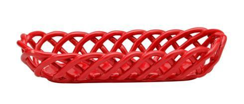 $59.00 Baguette Basket, Red