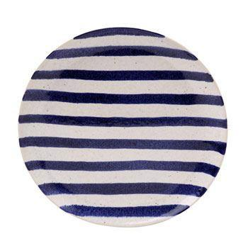 $31.00 Dinner Plate, Blue Stripes