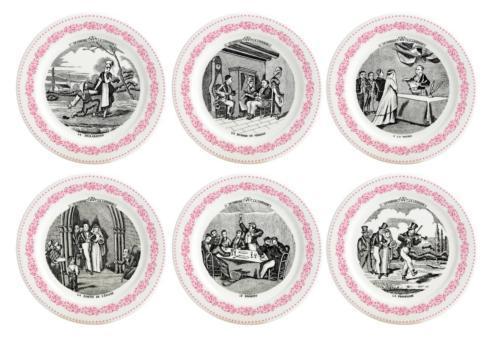 $120.00 Mariage Rose Coaster set 6