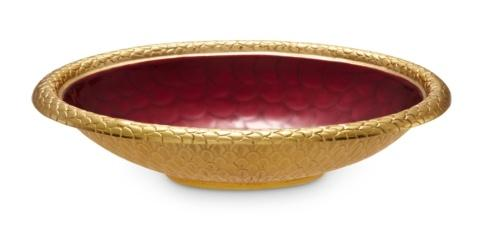 "$285.00 15"" Round Bowl Pomegranate"