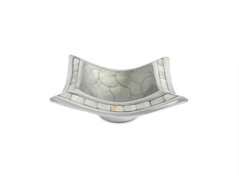 "$75.00 6.5"" Pagoda Bowl Platinum"