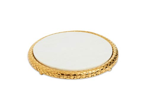 """$99.00 11"""" Marble Cheese Tray Gold"""