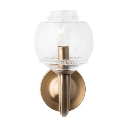 $485.00 Dean Double Shade on Paris Sconce in Brass