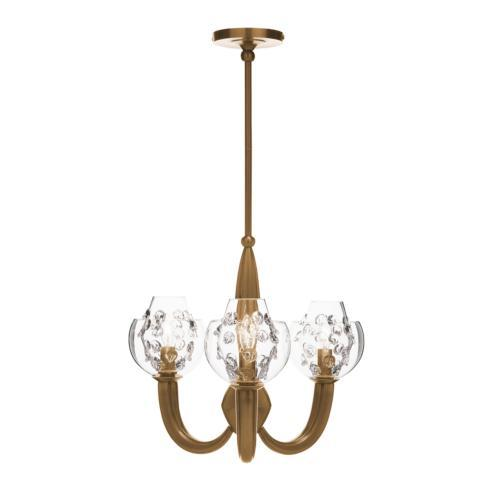 $1,950.00 Florence Double Shade on Paris Chandelier in Brass