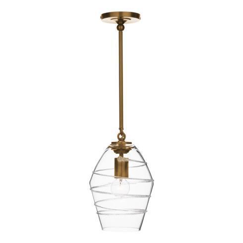 $650.00 Amalia Diamond Pendant in Brass
