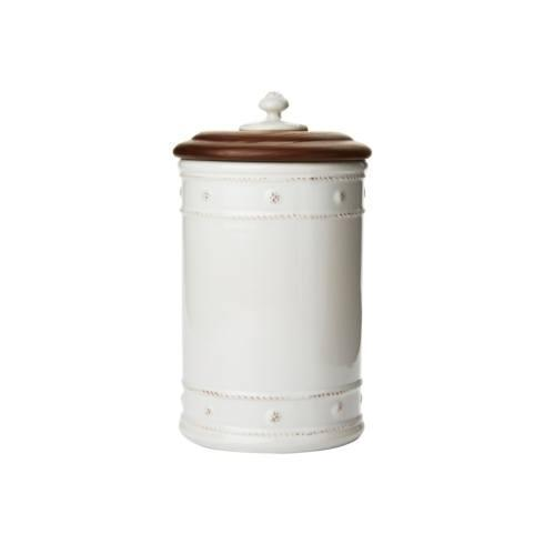 """$95.00 10"""" Canister with Wooden Lid"""