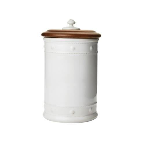 """$112.00 11.5"""" Canister with Wooden Lid"""