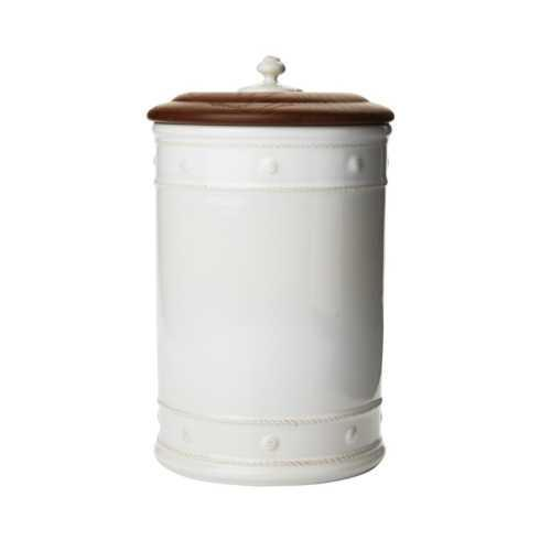"$150.00 13"" Canister with Wooden Lid"