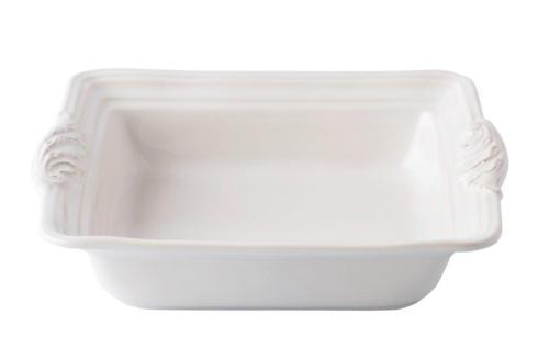 "$65.00 Whitewash 11"" Square Baker"