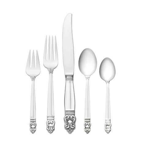 $1,000.00 5 Piece Dinner Setting with Dessert Spoon