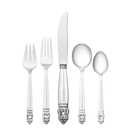 $8,500.00 46 Piece Set, Place Size with Cream Soup Spoon. Service for 8