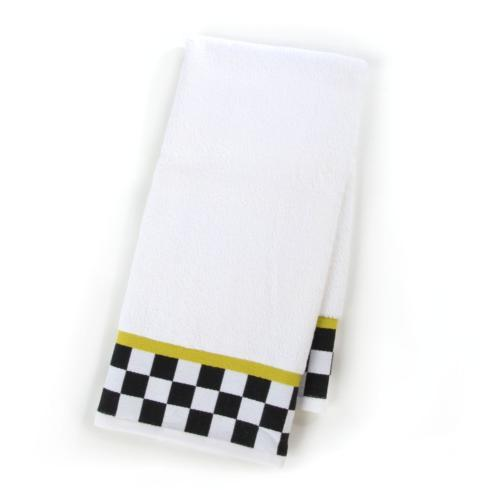 $22.00 Black & White Check Hand Towel
