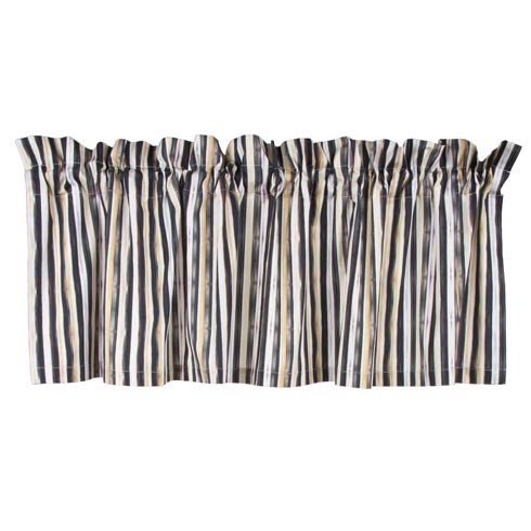 $115.00 Courtly Stripe Cafe Valance