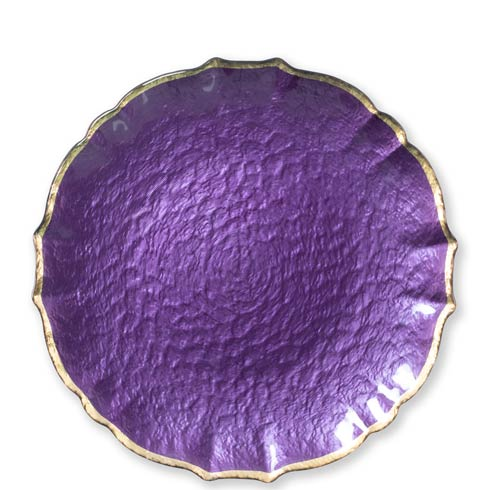 $34.00 Purple Service Plate / Charger