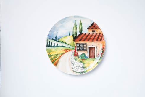 $180.00 Countryside Round Wall Plate