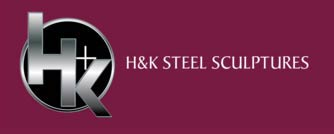 H & K Steel Sculptures brand logo