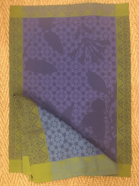 $24.00 navy and green placemat