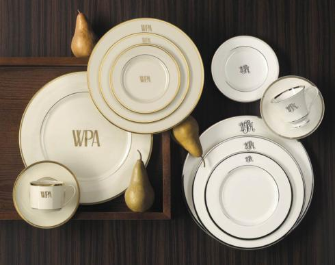 $54.00 White w/ gold Salad plate