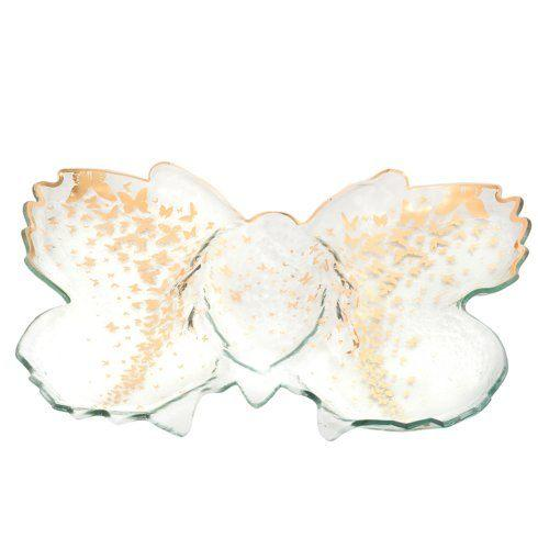 "18 x 14"" Butterfly Chip & Dip Server"