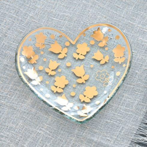 "7"" Dutch Flower heart plate"