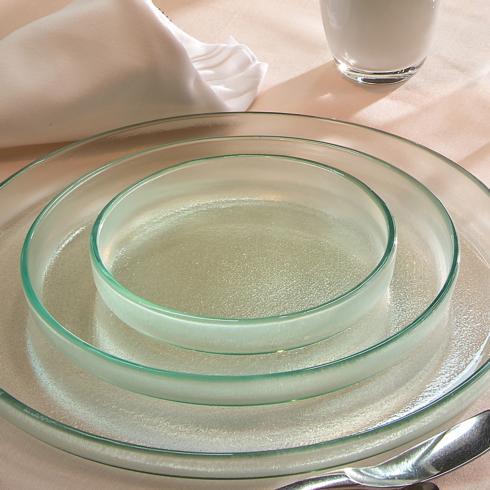 """$74.00 9¼"""" medium round plate - Mist"""