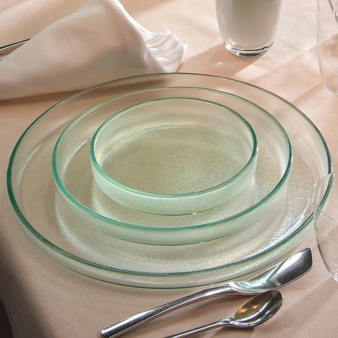 "$95.00 12¼"" large round plate - Mist"