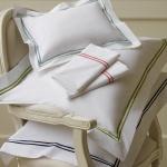 $63.00 Grande Hotel Collection-Continental Sham, White/Navy
