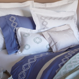 $240.00 Cossa Collection King Sham, Lilac Ash/White