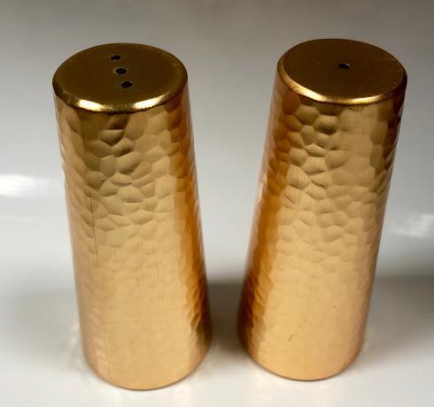 $40.00 Hammered Gold Salt & Pepper Shaker Pair