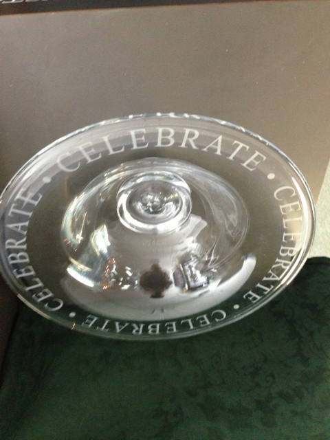$340.00 Engraved Celebration Bowl