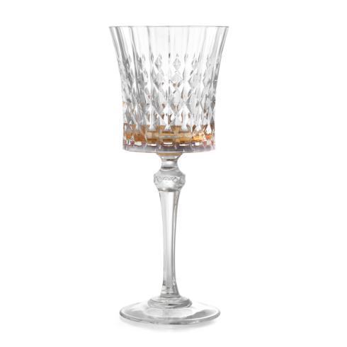 $70.00 Amber Water Glass