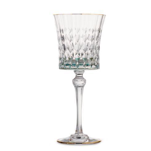 $90.00 Green Water Glass