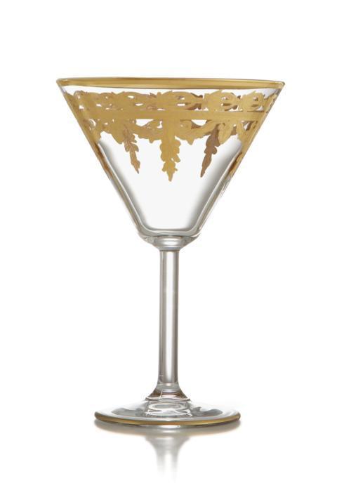 $97.00 Gold Martini Glass