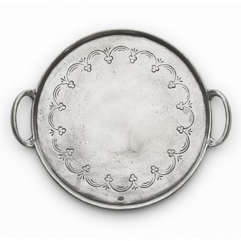 $214.00 Round Tray with Handles