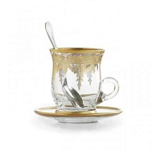 $101.00 Gold Cup & Saucer with Spoon