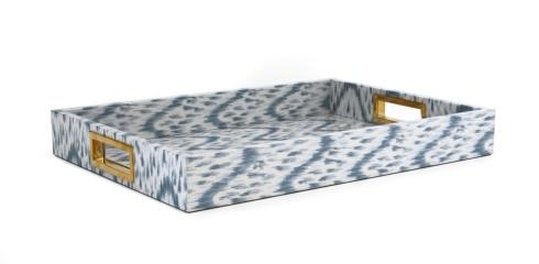$595.00 Ikat Printed Blue Tray