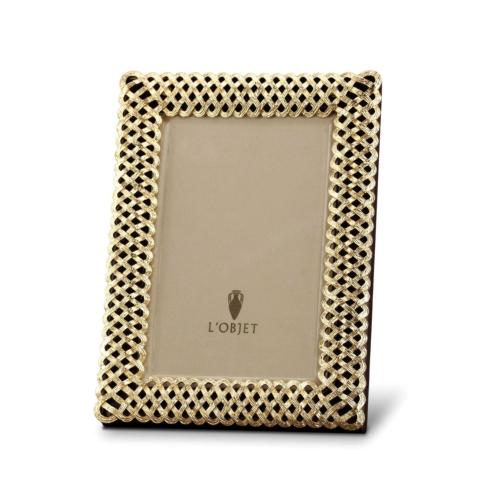 $160.00 4x6 Gold Braid Frame