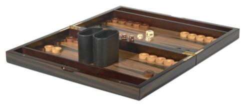 "$124.00 15"" Ebony Backgammon Set TIZ-711"