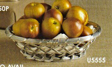 $15.50 9inch Aluminum Trim Oval Basket DES-177