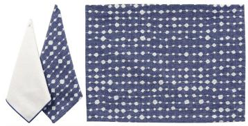 $25.50 Droplet Blue Embroidered Napkin KLB-011