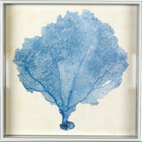 "$74.00 15"" Blue Sea Fan Square Tray RFP-003"