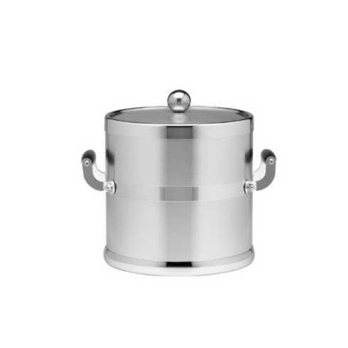 $79.00 3 Qt. Brushed Chrome Ice Bucket Side Handles K-156