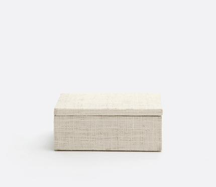 $52.00 Bayan Natural Raffia Accent Box PGP-044